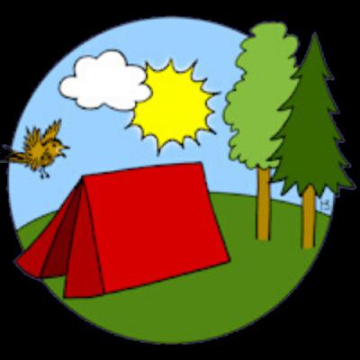 Logo zomerkamp Jeugdwerk Den Haag West